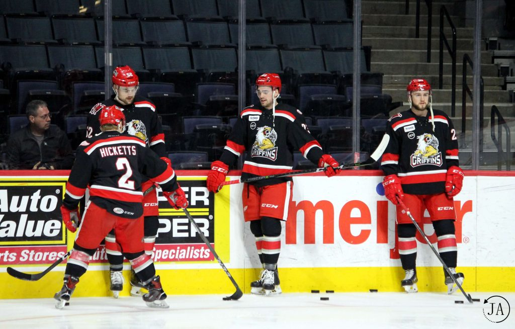 joe hicketts, dominic turgeon, dylan sadowy, grand rapids griffins, griffins hockey, ahl, red wings affiliate