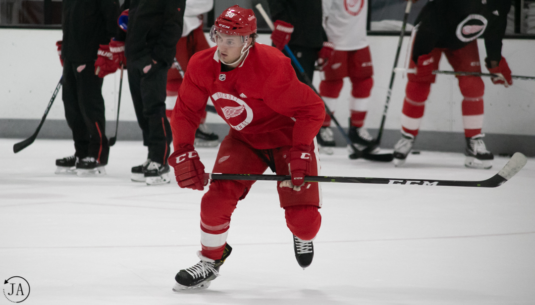David Pope, Detroit Red Wings Training Camp