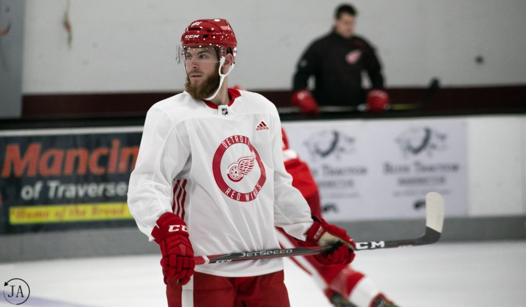 detroit red wings, bryan moore, training camp, drw