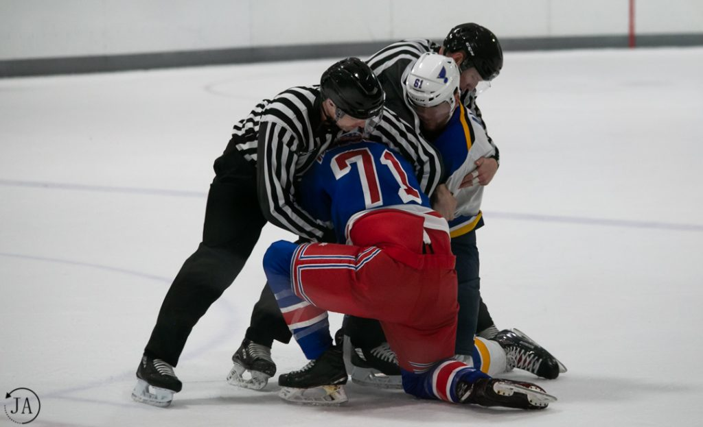 nhl prospect tournament, new york rangers, st. louis blues, nhl, hockey, ice hockey, fight