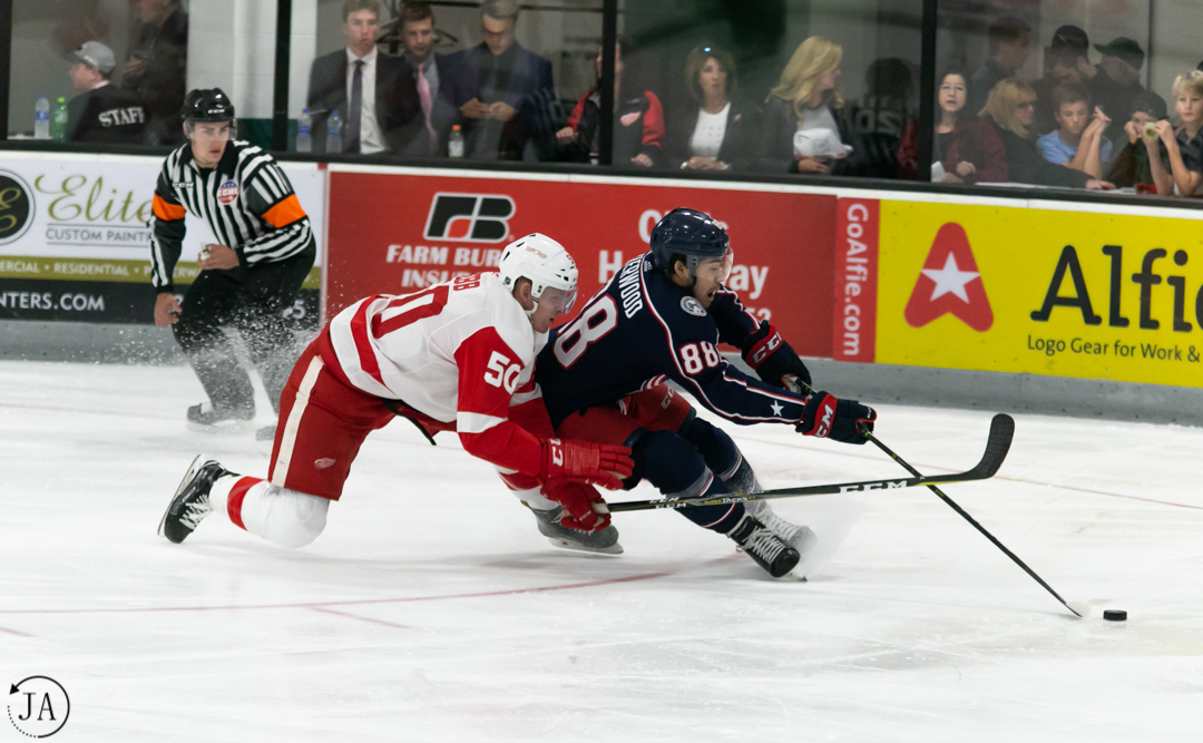 Red Wings Close Tournament with Loss to Columbus