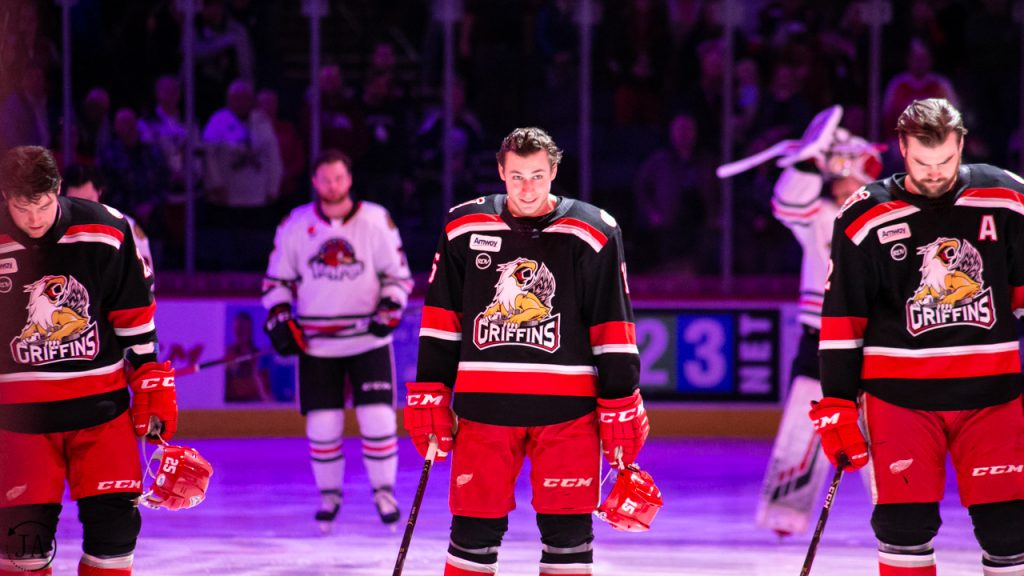 Turner Elson, Chris Terry, Dylan McIlrath, Grand Rapids Griffins, AHL